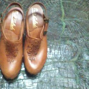 Vintage BoHo clog slingbacks
